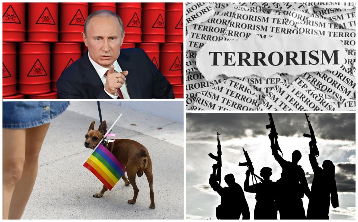 Конспирация: Хомосексуализъм, Биологически тероризъм и Химически трасета (Chemtrails)