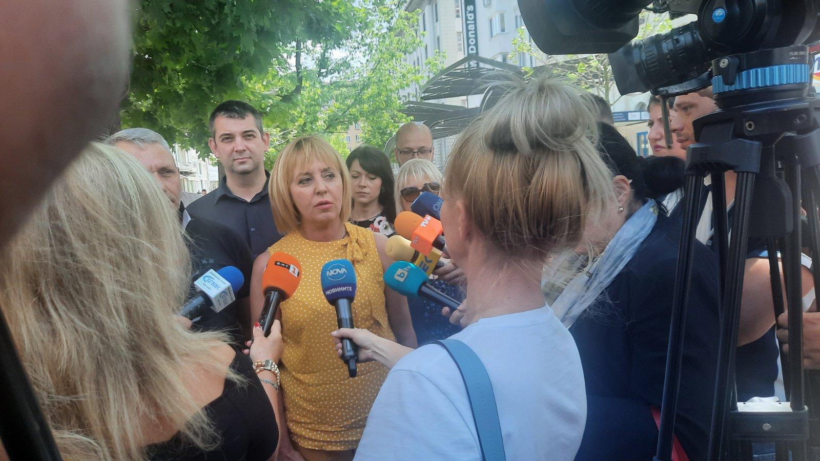 """Мая Манолова: Парламентaрната група се казва """"Изправи се БГ! Ние идваме!"""""""