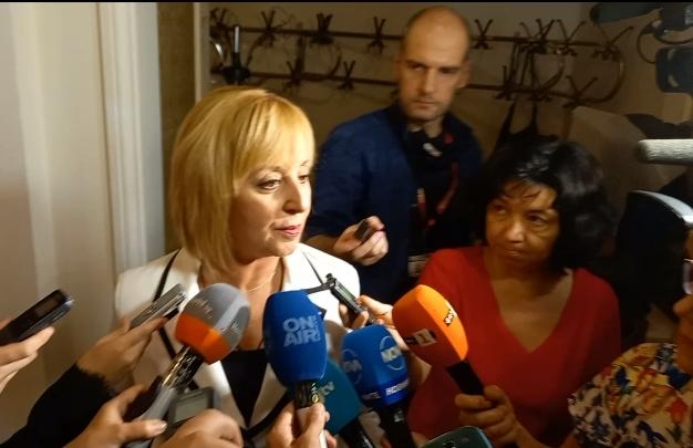 """Манолова: До края на парламентарната процедура """"Изправи се БГ! Ние идваме!"""" ще има решение относно кабинета"""